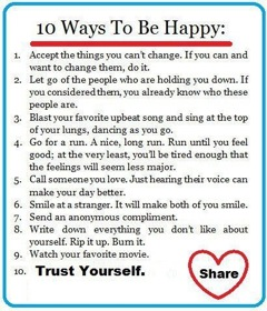10 ways to happy