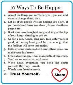 10 ways to happy